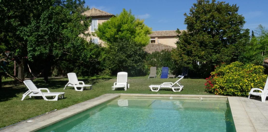La piscine et son jardin