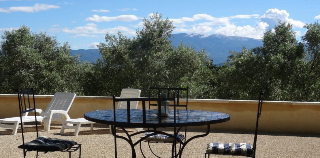 Le mont Ventoux de la terrasse