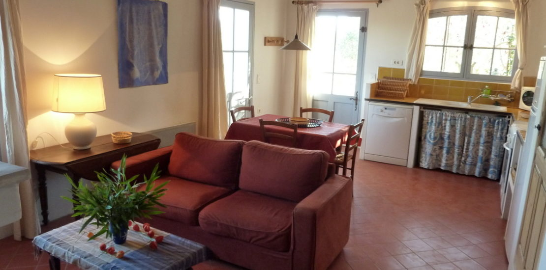 Le salon et la cuisine