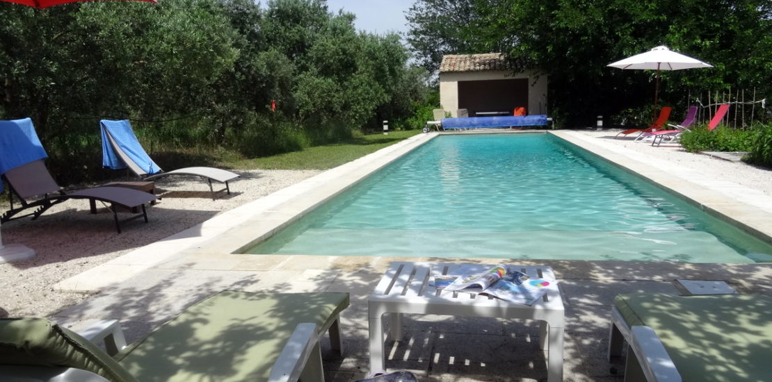 Plages de piscine ombragées